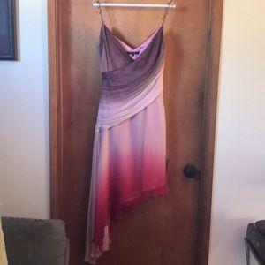 Ombré cocktail dress